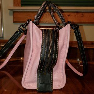 Coach Exotic Snakeskin Pink Rogue 25